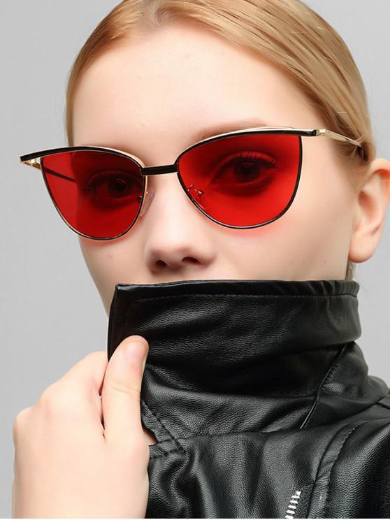 womens Alloy Frame Sunshade Sunglasses - LAVA RED
