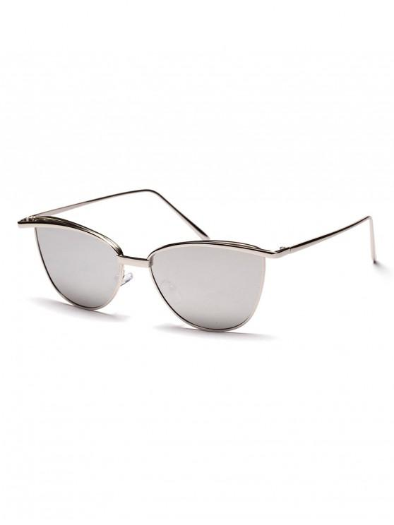 outfits Alloy Frame Sunshade Sunglasses - WHITE