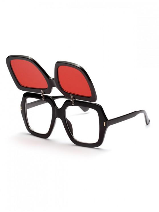 fashion Double-deck Decoration Outdoor Sunglasses - RED