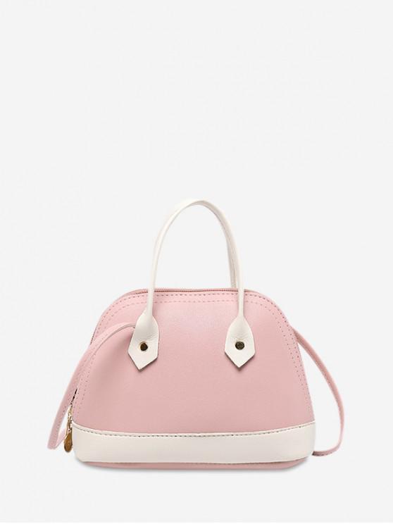 unique Striped Shell Shape Crossbody Bag - PIG PINK