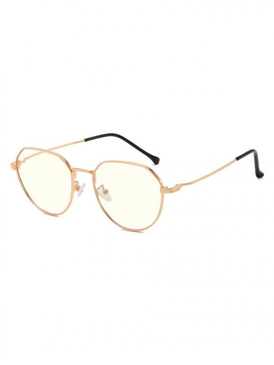 women's Brief Metal Anti Blue-ray Glasses - GOLD
