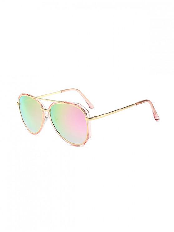 best Driving Bar Metal Pilot Sunglasses - PINK