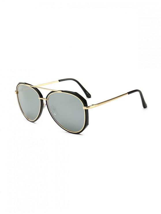 outfits Driving Bar Metal Pilot Sunglasses - SILVER
