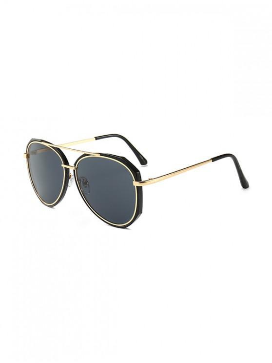 shops Driving Bar Metal Pilot Sunglasses - BLACK