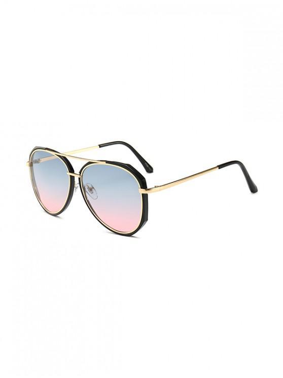 fashion Driving Bar Metal Pilot Sunglasses - MULTI-A