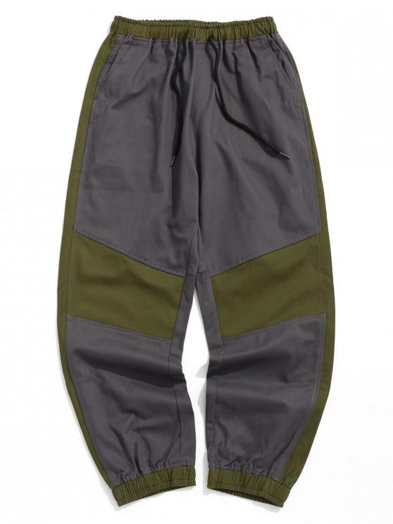 outfits Color Block Spliced Casual Jogger Pants - MULTI-A XL