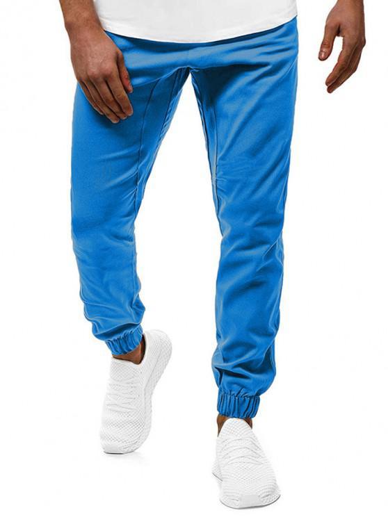 chic Contrast Drawstring Pockets Casual Jogger Pants - DEEP BLUE 2XL