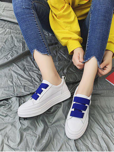 outfits Candy Color Hook Loop Skate Shoes - COBALT BLUE EU 36 Mobile