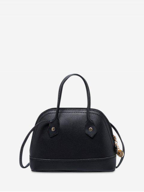條紋外殼形狀斜挎包 - 黑色  Mobile