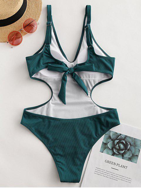 ZAFUL textura nudo de Monokini - Aguamarina Mediana XL Mobile
