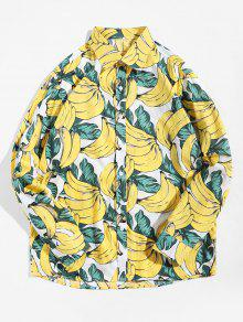 Banana Allover Print Button Up Shirt