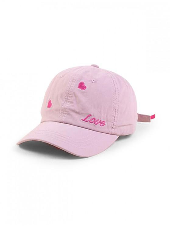 Gorra de béisbol con forma de corazón de personaje - Rosado