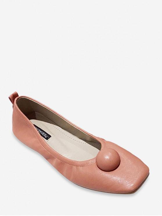 best Flat Toe Flat Heel Shoes - PINK EU 35