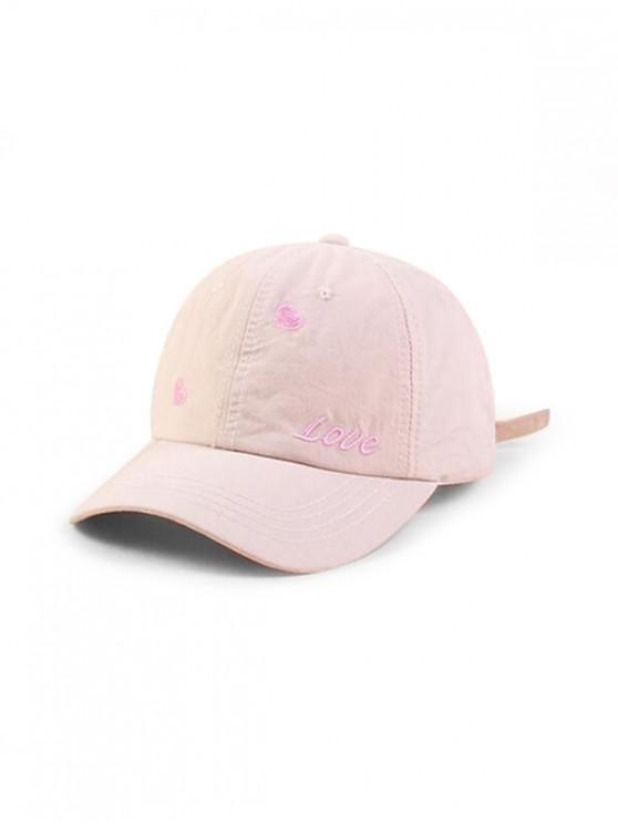 new Character Heart Shape Baseball Hat - BEIGE