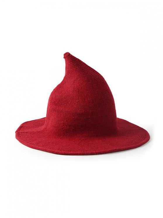 shop Artificial Woolen Plain Witch Hat - RED