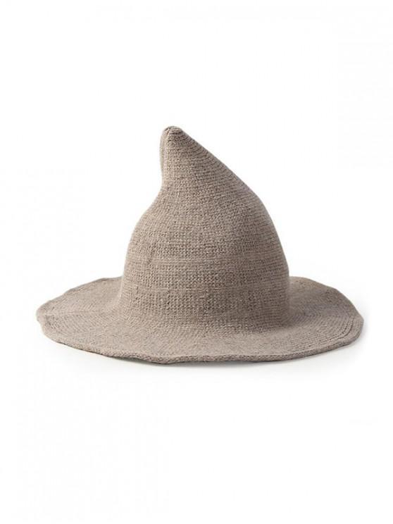 shops Artificial Woolen Plain Witch Hat - TAN