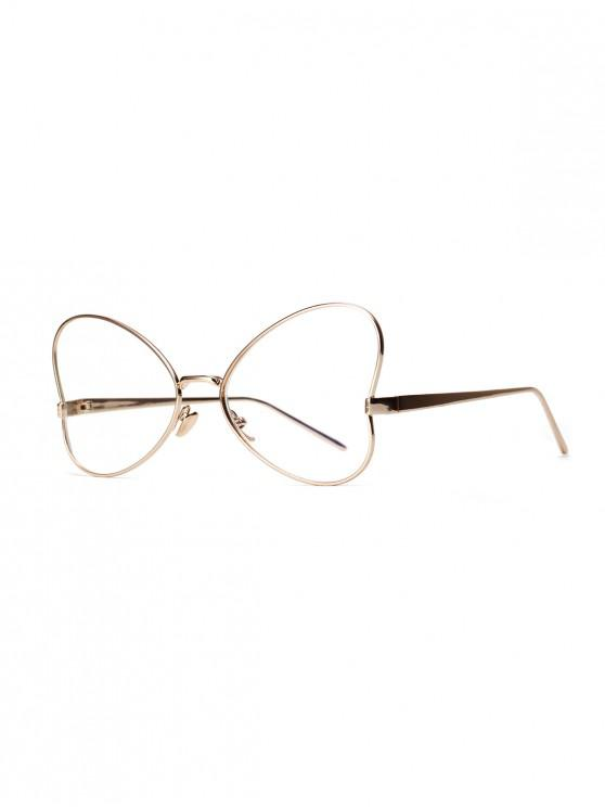 fashion Transparent Butterfly-shaped Heart Retro Sunglasses - GOLDEN BROWN