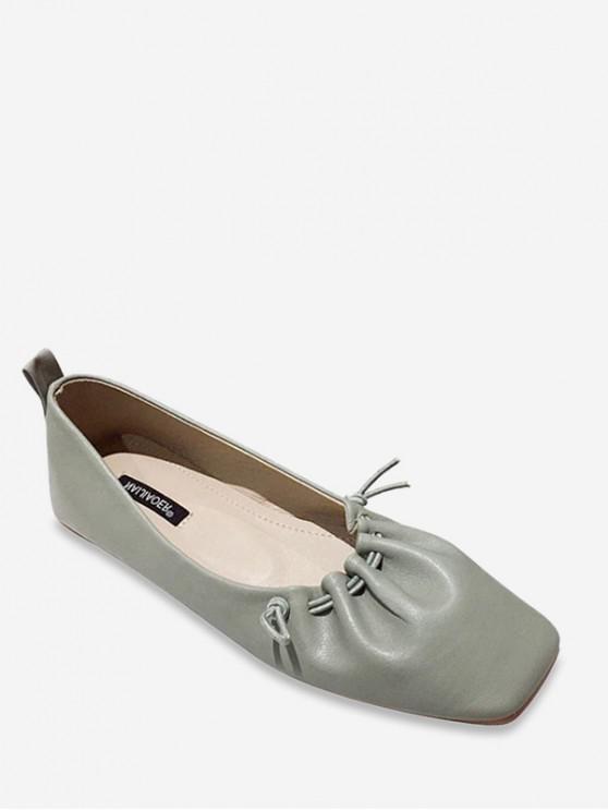 womens Flat Toe String Drape Flat Heel Casual Shoes - SEA TURTLE GREEN EU 35
