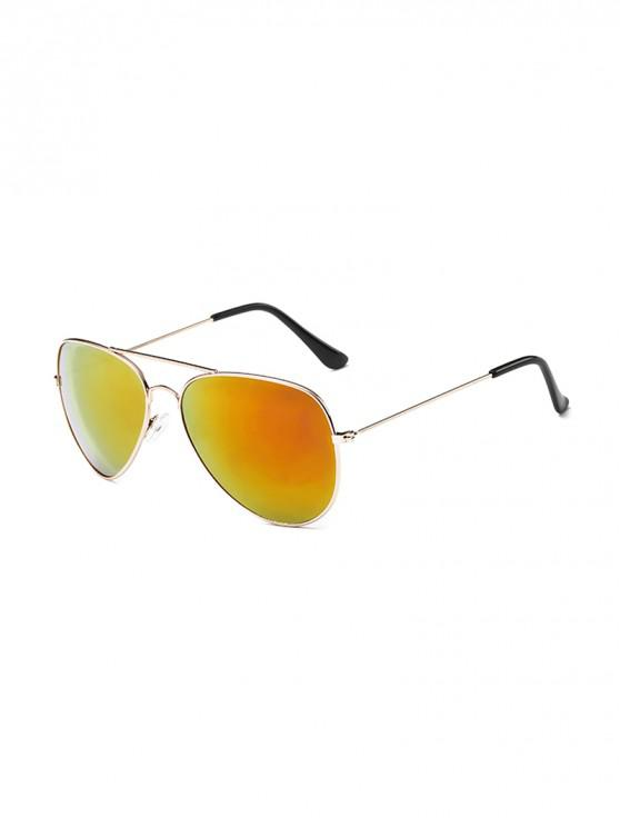 best Anti UV Mirrored Pilot Sunglasses - BROWN SUGAR