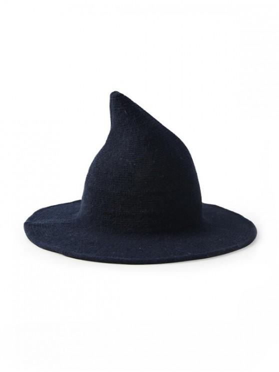 Sombrero de bruja de lana artificial liso - Cadetblue