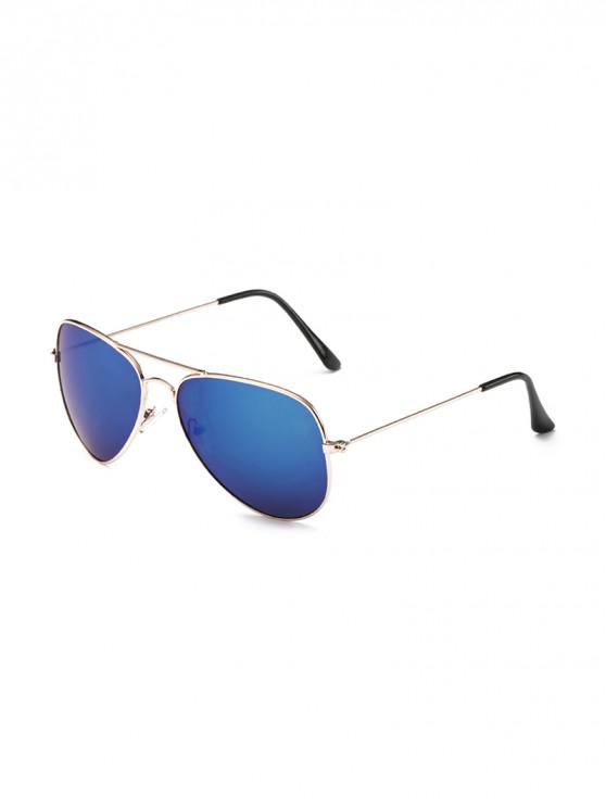 fashion Anti UV Mirrored Pilot Sunglasses - BLUEBERRY BLUE