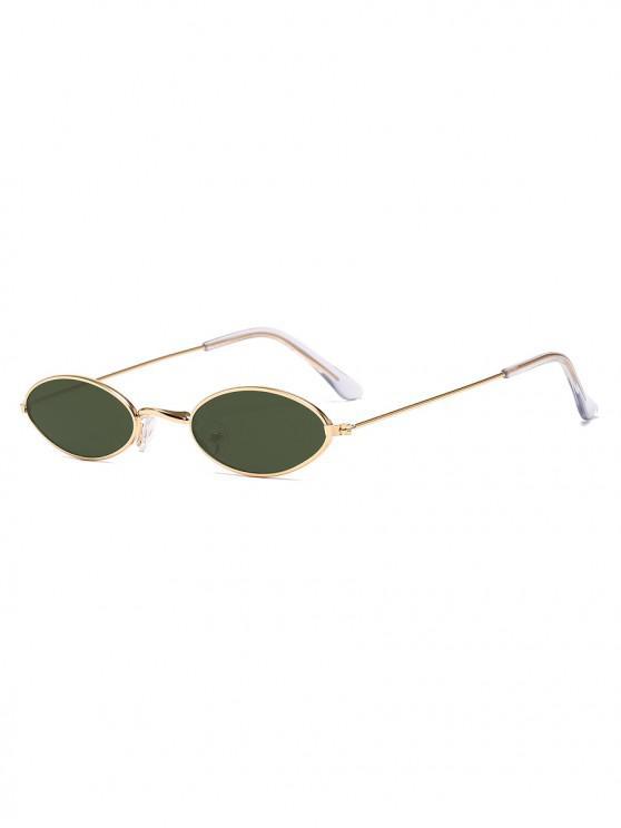 shop Vintage Small Metal Oval Sunglasses - DARK GREEN