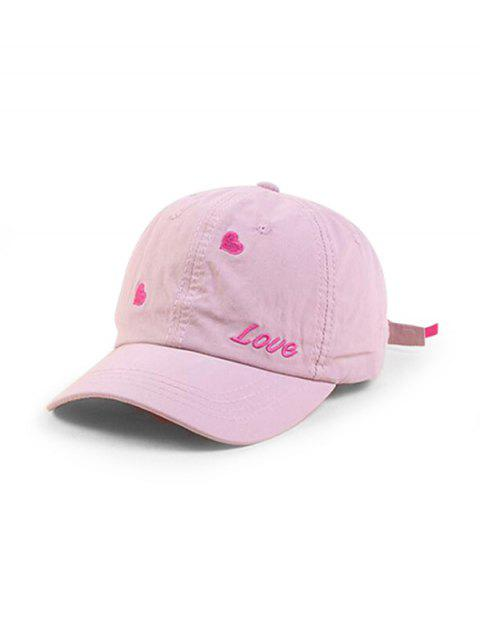 women's Character Heart Shape Baseball Hat - PINK  Mobile