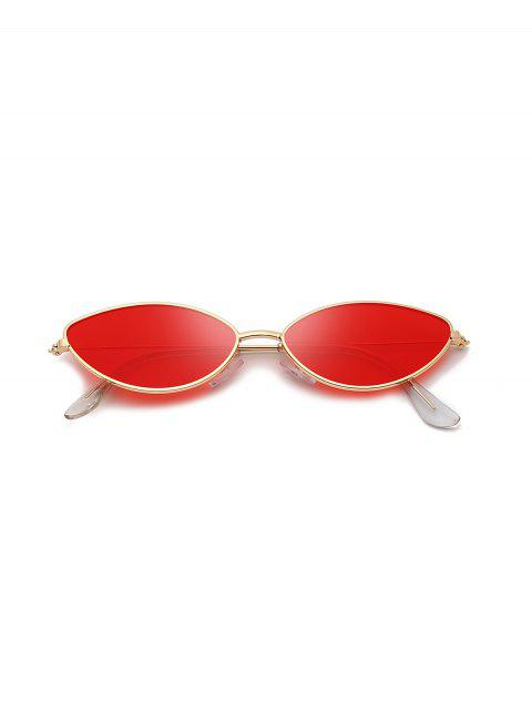 buy Metal Small Catty Eye Sunglasses - RED  Mobile