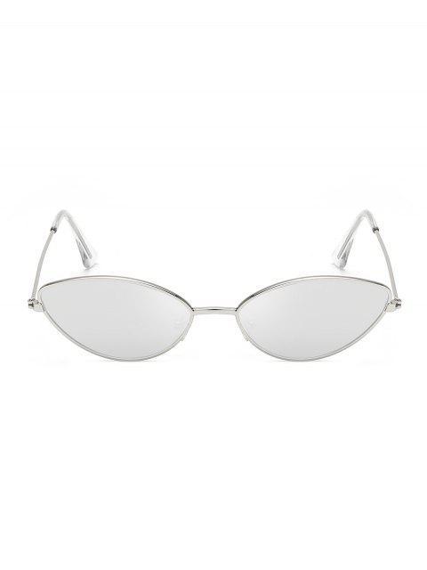 new Metal Small Catty Eye Sunglasses - PLATINUM  Mobile