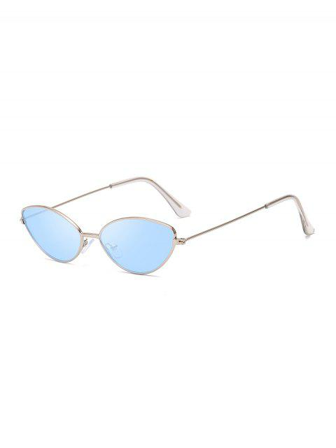 latest Metal Small Catty Eye Sunglasses - OCEAN BLUE  Mobile