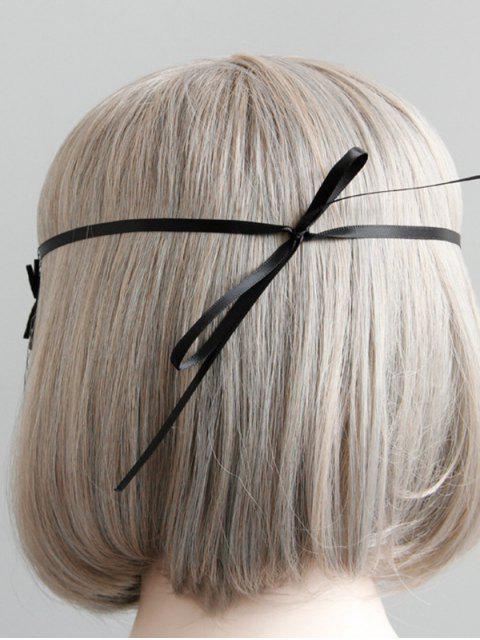 trendy Halloween Gothic Mesh Spider Eye Mask - BLACK  Mobile