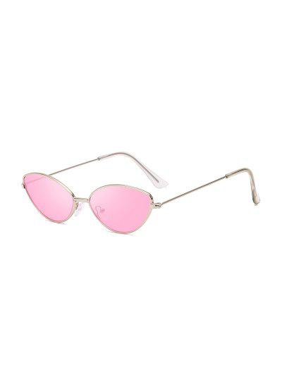 Metal Small Catty Eye Sunglasses - Pink