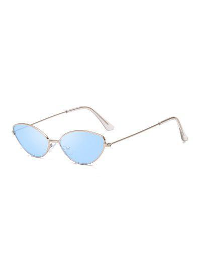Gafas De Sol Pequeños Ojo Metálico - Azul Océano