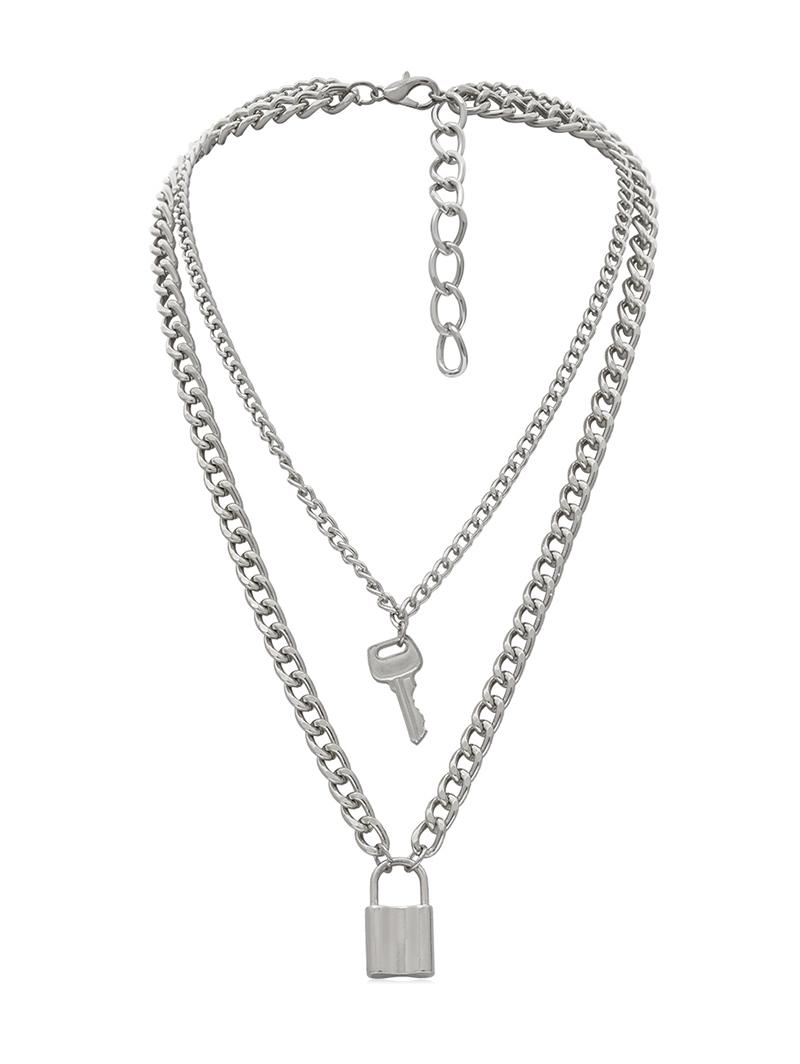 Zaful coupon: Lock Key Decoration Chain Necklace
