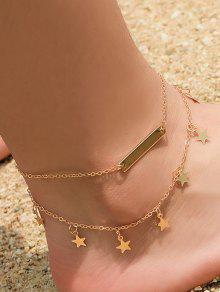 نجمة الديكور سلسلة خلخال سبيكة - ذهب