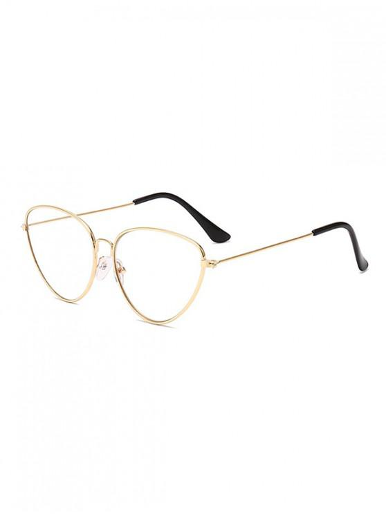 new Catty Eye Alloy Frame Triangle Sunglasses - TRANSPARENT