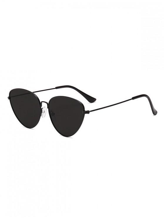 latest Catty Eye Alloy Frame Triangle Sunglasses - BLACK EEL