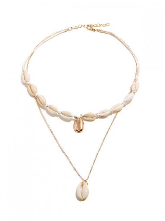 Collar de Cadena de Concha - Oro