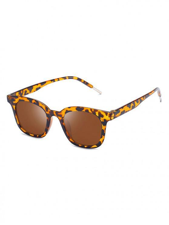 outfit Classic Anti UV Reflective Square Sunglasses - LEOPARD