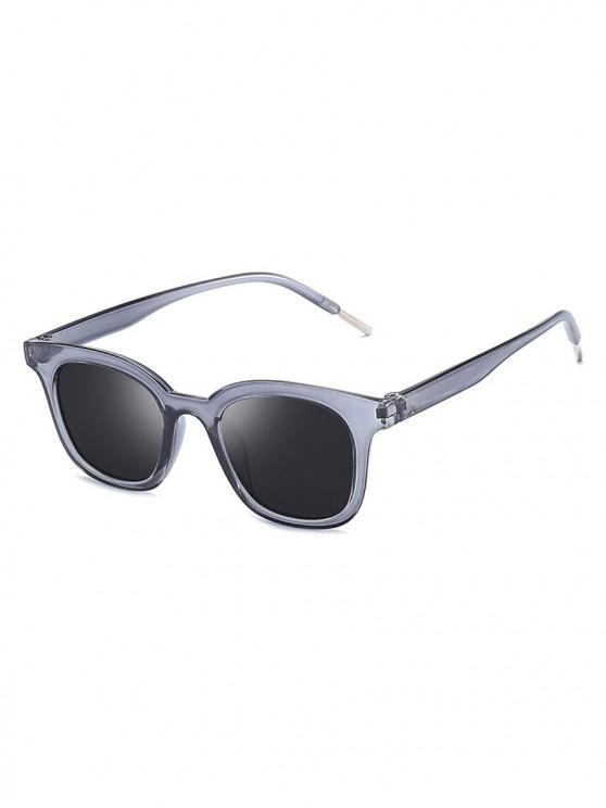new Classic Anti UV Reflective Square Sunglasses - CARBON GRAY