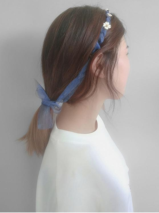 latest Floral Bowknot Design Hairband - POWDER BLUE