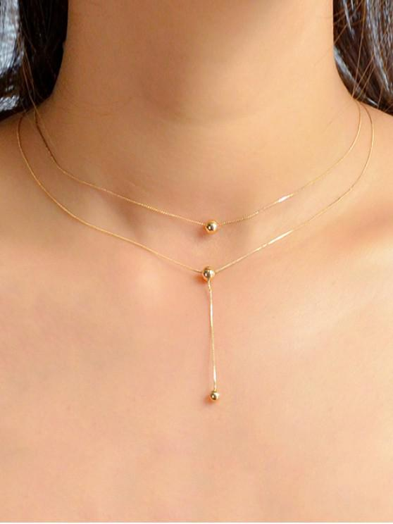 online Ball Pendent Chain Necklace - GOLD