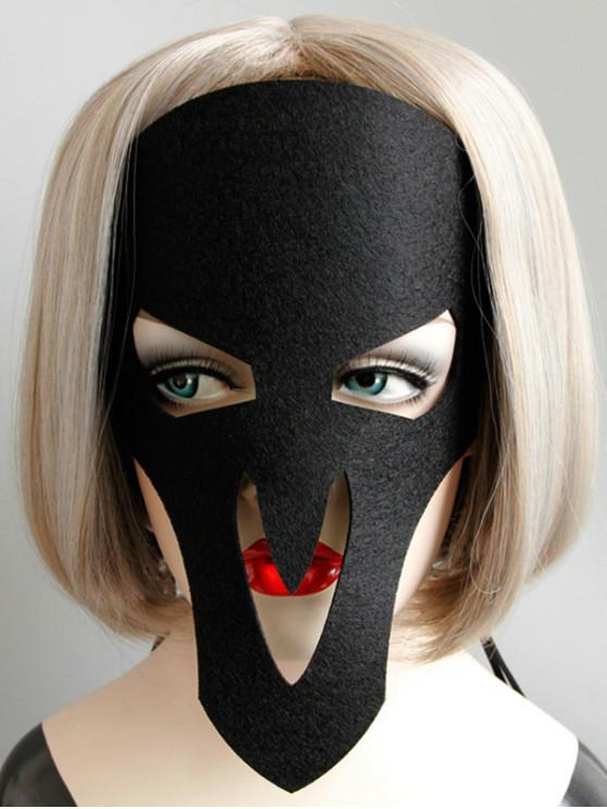 ฮาโลวีนกะโหลกผีพรรคตกแต่งหน้ากาก - สีดำ