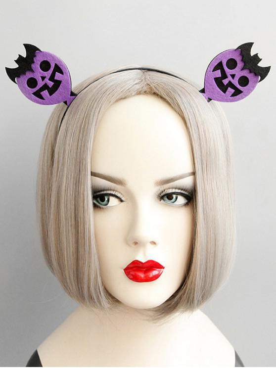 latest Halloween Balloon Bat Shape Party Hairband - PURPLE