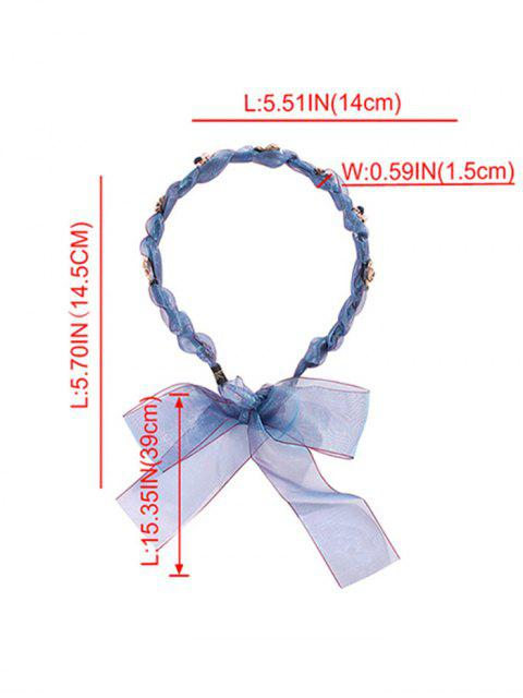 unique Floral Bowknot Design Hairband - LIGHT GRAY  Mobile