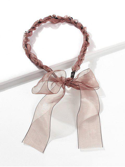 buy Floral Bowknot Design Hairband - BROWN  Mobile