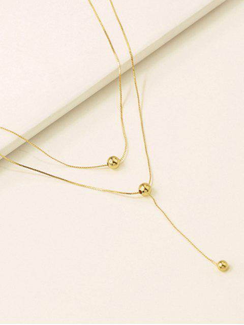 Цепное Ожерелье Подвеска шара - Золотой  Mobile