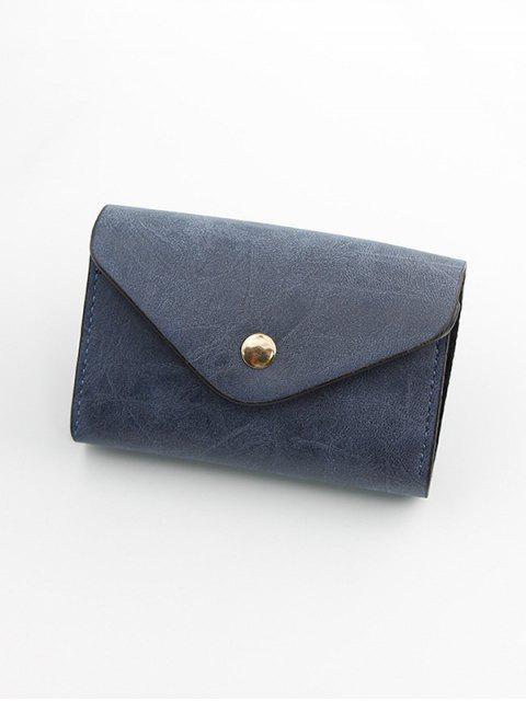 按扣PU皮革卡袋 - 板岩藍色  Mobile