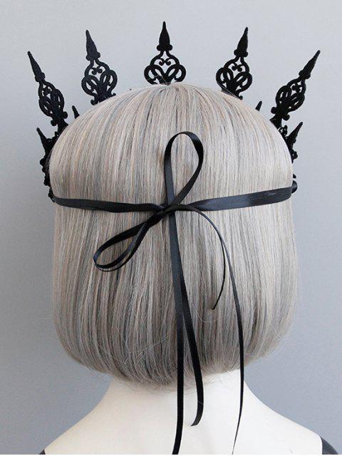 Bandeau d'Halloween Gothique Fleur Couronne Evidés - Noir  Mobile