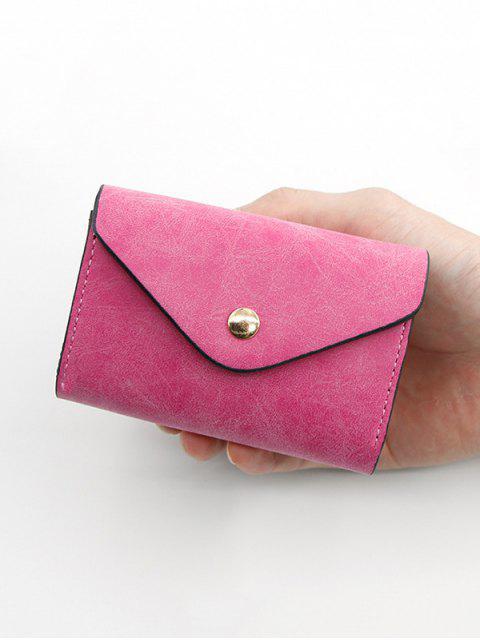 Sac à Cartes avec Bouton-pression en Cuir PU - Rouge Rose  Mobile